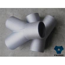 Pièce en t de tuyau d'acier inoxydable 316 avec du CE
