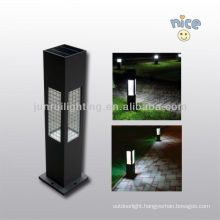 Aluminium/Stainless steel solar garden light with glass lampshade and Ce&RoHs Certificate