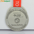 Lastest Sport Metall Silber Medaille Mit Band