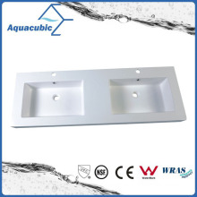 Double Bowl Rectangular Bathroom Sink Acb1402A