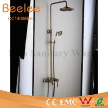 Antique Brass 3 Function Shower Set Wall Mount Rainfall Shower Faucet