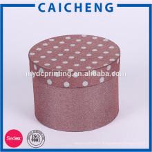 Boîte de papier de cylindre de couleur spéciale de vente chaude de service d'OEM pour le présent