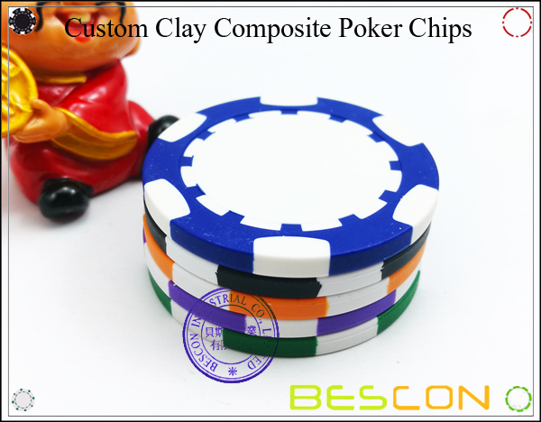 Bescon New Style Clay Chip with Custom Sticker-11