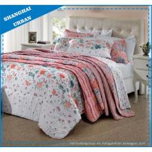 Las flores y las hojas imprimieron la ropa de cama nórdica del poliéster