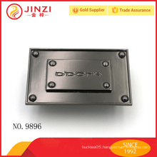dimensional design gun metal color name plate, customized engraved letters labels