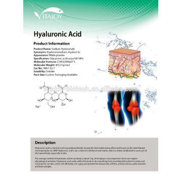 1% low mocular weight cosmetic grade Sodium Hyaluonate/Hyluronic Acid solution