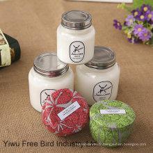 Bougie de mèche de coton pur de haute qualité avec le parfum différent et le prix bon marché