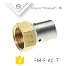"""EM-F-A017 1/2 """"Hexágono hembra rosca latón pezón tubo de compresión"""