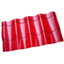 Hoja de acero de metal corrugado de color para el panel de tejado / Gi / PPGI