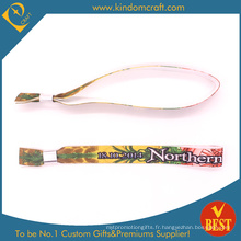 Bracelet imprimé de transfert de chaleur coloré à la mode bon marché à vendre