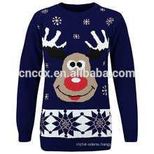 PK17ST094 Couples Reindeer Pullover for Men and Women