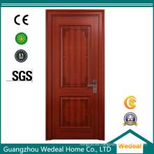Puerta de madera interior de la película de PVC del MDF de la fuente a granel para las casas