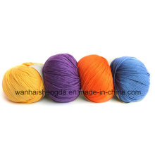 Fil chaud de boule de soie mélangée de cachemire de vente chaude avec la diverse couleur