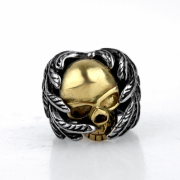 Terminator skull ring stainless steel jewelry silver