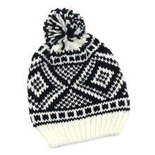 Bonnet d'hiver tricoté Jacquard tricoté unisexe (HW150)