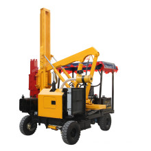 Road machine hydraulic small roof post pile driver with air compressor