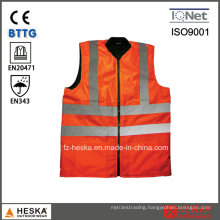 Security Reversible Softshell Bodywarmer High Visibility Safety Vest