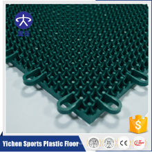 Piso de deportes al aire libre que entrelaza de alta calidad promocional de los pp, piso sintético de la cancha de básquetbol