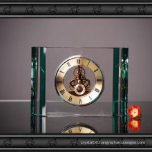 Elegant Crystal Glass Table Clock for Decoration