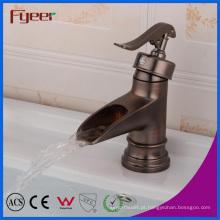 Fyeer alta qualidade Antique Brass Bathroom Faucet da bacia