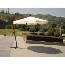 Strong Hanging Round Wooden Outdoor Sun Umbrella