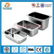 optional size stainless steel gastronorm container