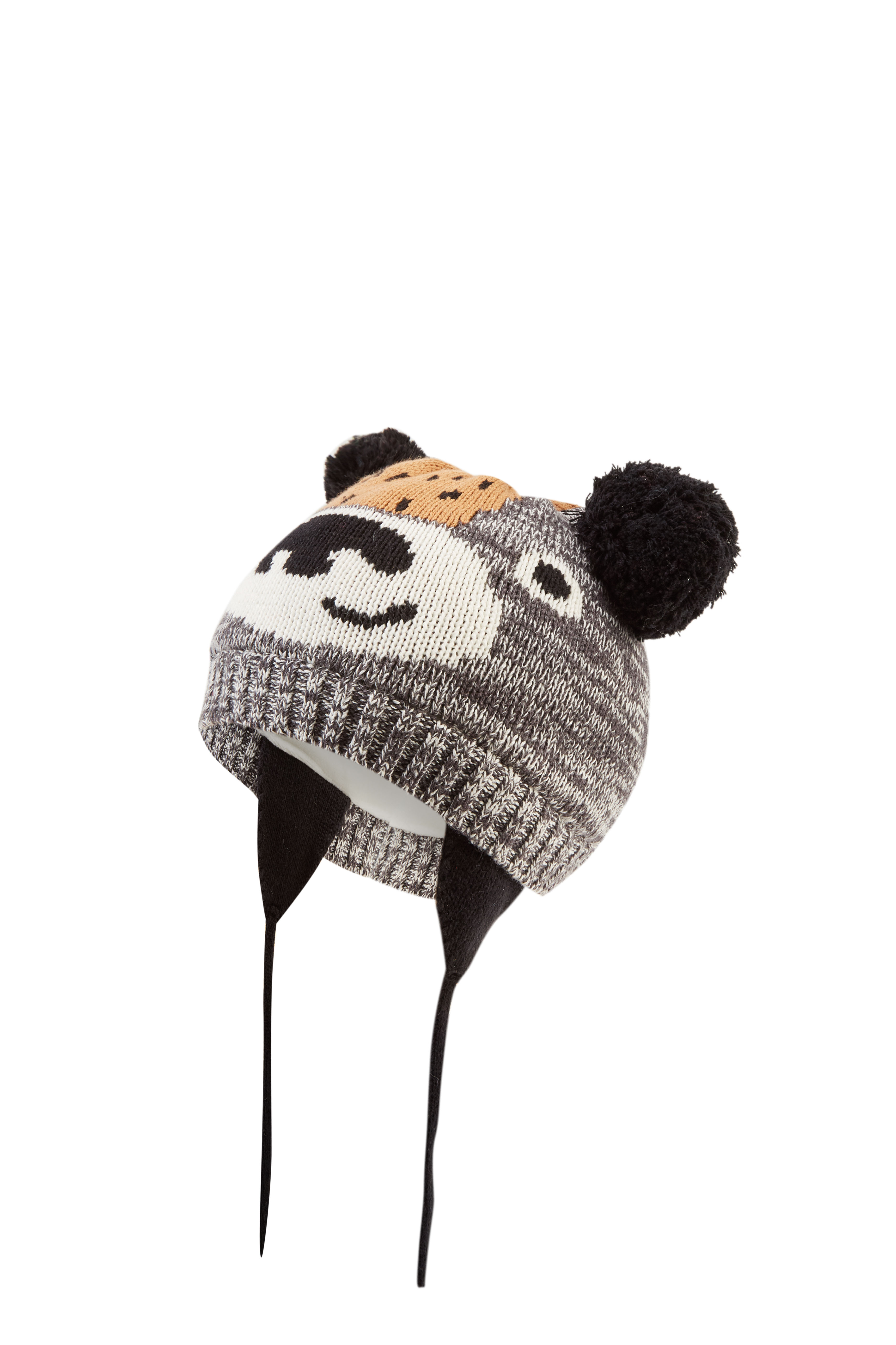 Boy's Winter Tiger Knitted Beanie Cap with Warm Ear Flap