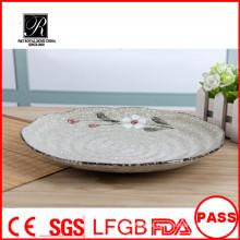 Nice forma hotel & restaurante nice rodada simples branco cerâmica pratos para casamentos