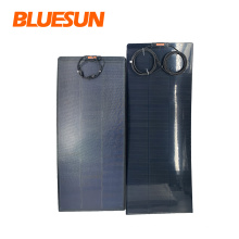 Bluesun semi flexible solar panel 60w 100w all black 100watt flexible solar panel 12V 100w solar panel