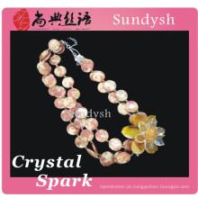2014 antiguidade por atacado multa ágata novo design legal shell grandes pingentes verão longa cadeia de moda de pedra de cristal colares de jóias