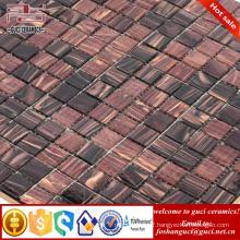 cheap swimming pool tile brown mixed Hot - melt tile mosaic
