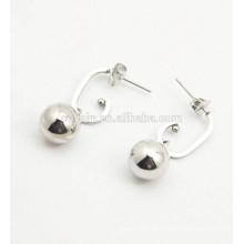 Modeschmuck 316L Edelstahl glänzende Silber Ohrstecker für Frauen mit runden Ball