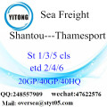 Shantou Port Sea Freight Expédition à Thamesport