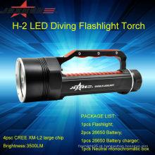 JEXREE Underwater lanterna led de segurança de polícia de lanterna de mergulho de 100M