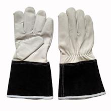 Кожаная кожаная промышленная безопасность Сварочные перчатки TIG