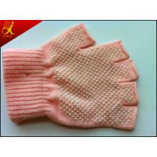 Розовый хлопка рабочие перчатки