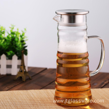 Heat Resistant Glass Beverage Pitcher for Homemade Juice