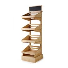 Modern Retail Shop Wood 4 Shelves Display