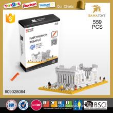 Greece famous building Parthenon temple 3d puzzle toy building block
