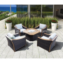Leisure 5pcs craft outdoor sofa set rotan