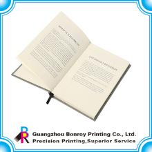 Hot sale popular fabric custom journal book with ribbon mark