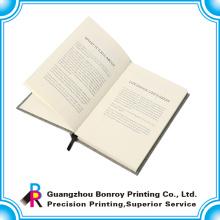 Горячая продажа популярные ткани изготовленный на заказ журнал книга с лентой Марк