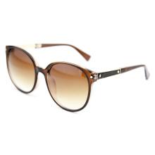 Женские поляризованные солнечные очки моды с коричневыми градиентными линзами (14307)