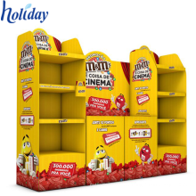 Meubles promotionnels de supermarché de stockage de marchandises de carton d'affichage