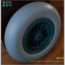Rueda plástica de la PU de la carretilla del borde de la rueda de la PU 4.80 / 4.00-8, neumático libre plano