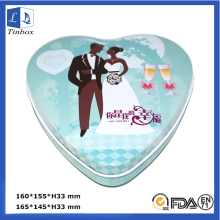 Heart Shape Chocolate Packaging Tin Can