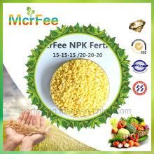 Alto Nitrogênio NPK 15-15-15 Fertilizante Verde para Cultivo