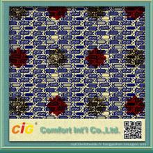 Tissu en cire de Ankara London avec imprimé en tissu de coton