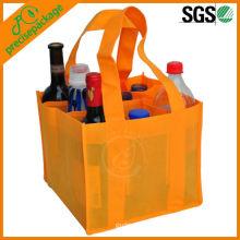 Bolsa no tejida promocional reciclada al por mayor del paquete de la botella de vino del paquete 9
