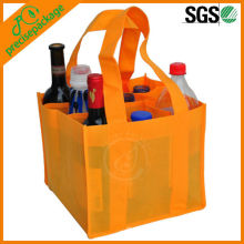 Recycled wholesale promotional Non Woven 9 pack wine bottle packing bag